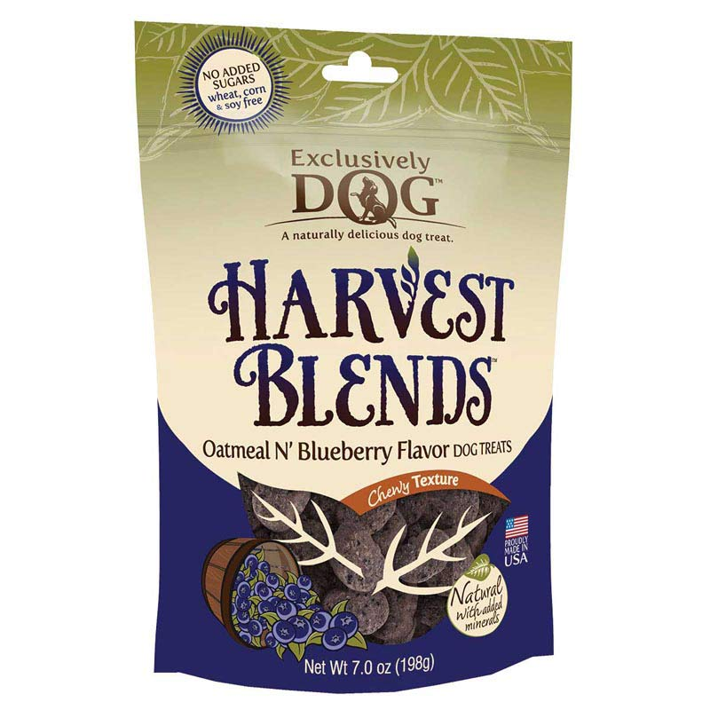 Exclusively Dog Harvest Blends Oatmeal n' Blueberry Dog Treats - No Added Sugars