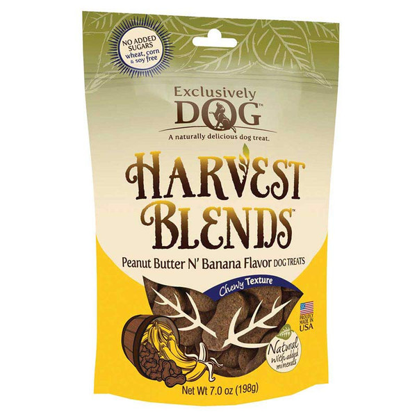 Exclusively Dog Harvest Blends Peanut Butter N' Banana Treats for Dogs - Wheat, Corn and Soy Free