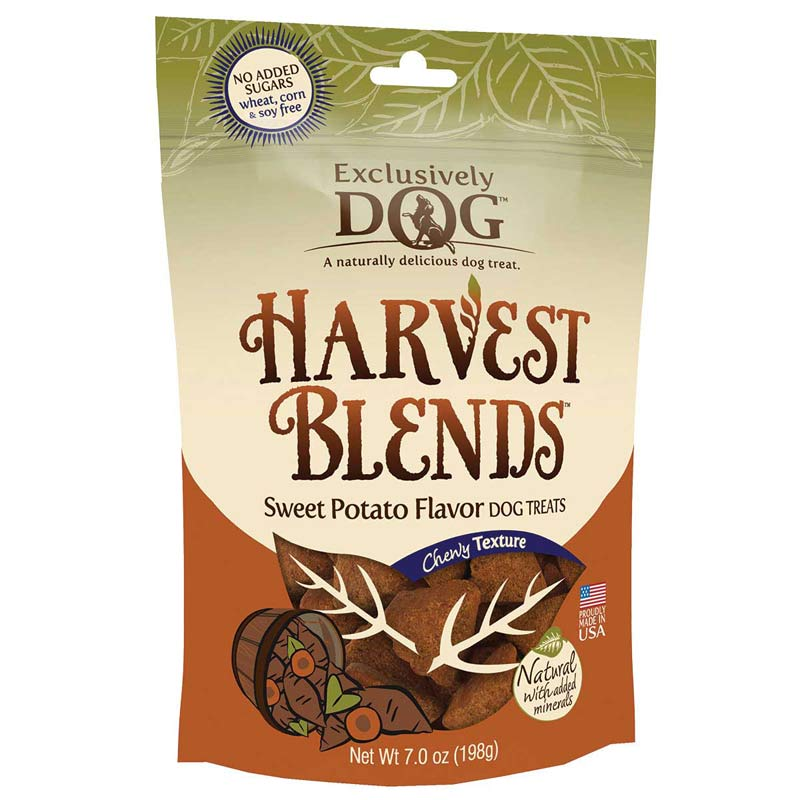 Exclusively Dog Harvest Blends Sweet Potato Chewy Dog Treats - 7 ounces