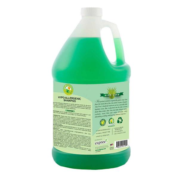Back of Espree Hypo-Allergenic Shampoo Gallon
