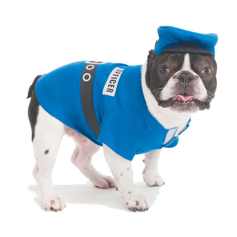 Small Police Officer Costume for Dogs