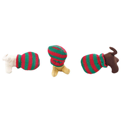 Holiday Cat-in-a-Sack Cat Toys with Catnip