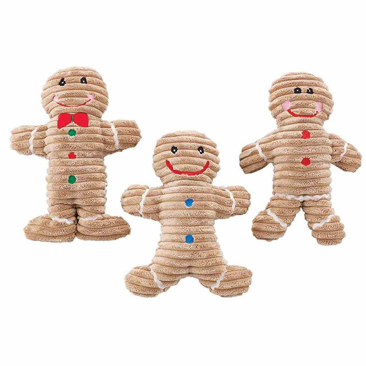 Holiday Corduroy Gingerbread Dog Toys