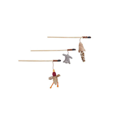 Ethical 13 inch Skinneeez Forest Friends Teaser Wand With Catnip for Cats at Ryan's Pet Supplies