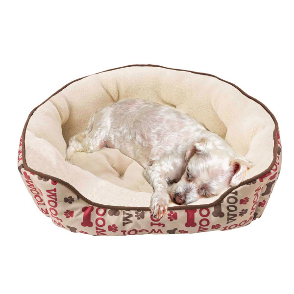Dog in Large Sleep Zone Scallop Step In Woof Pet Bed