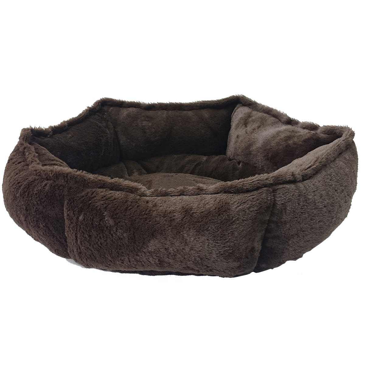 Chocolate Sleep Zone Specialty Beds Hex Cuddler for Dogs and Cats