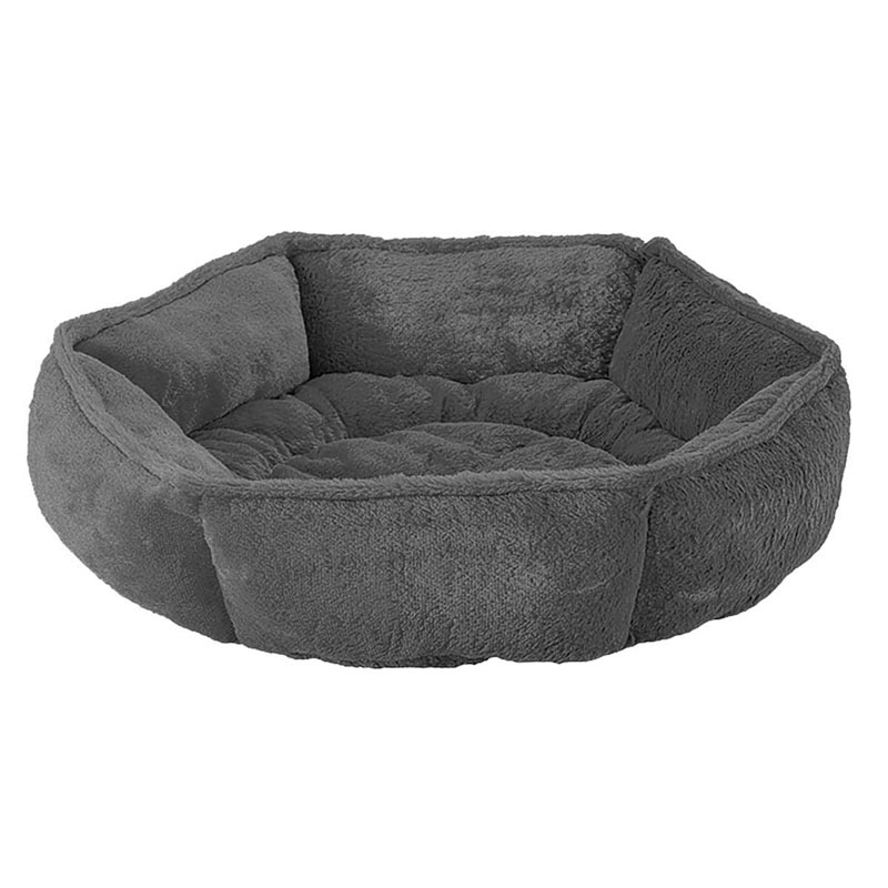 Dark Grey Sleep Zone Specialty Beds Hex Cuddler for Cats and Dogs