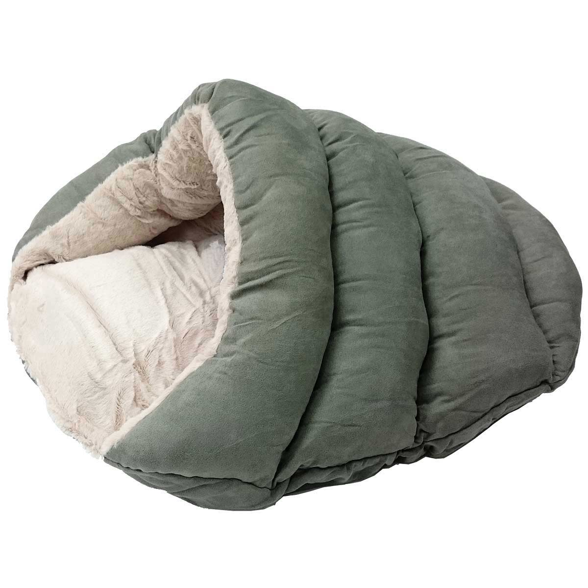 Sleep Zone Specialty Beds Cuddler Cave in Sage Green - 22 in by 17 in
