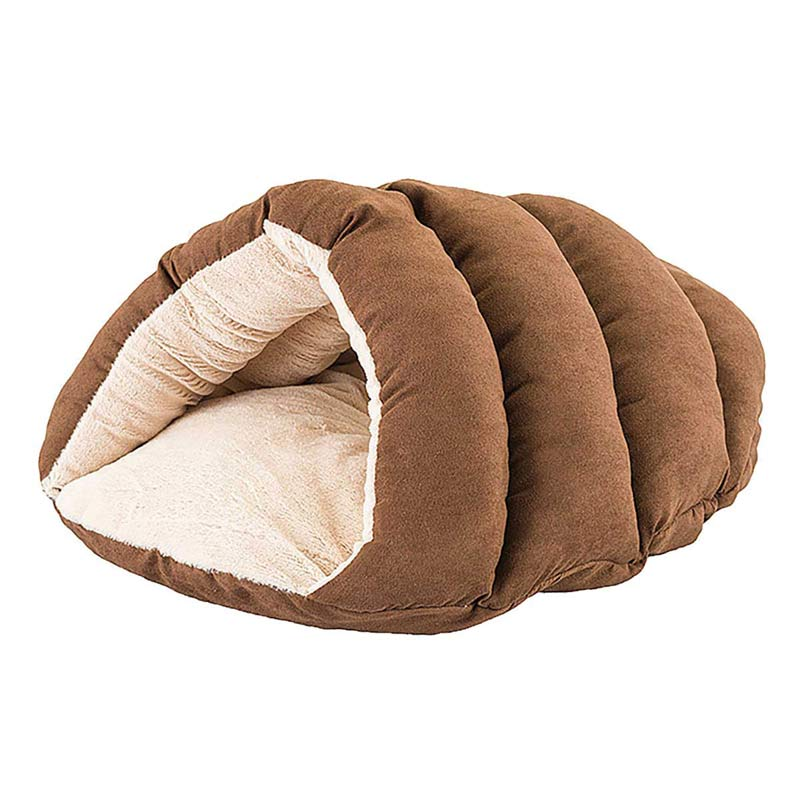 Sleep Zone Specialty Beds Chocolate Brown Cuddler Cave for Dogs and Cats