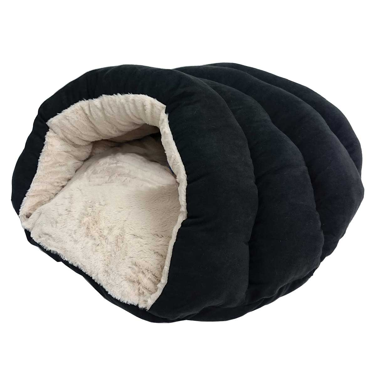 Black Sleep Zone Specialty Beds Cuddler Pet Cave
