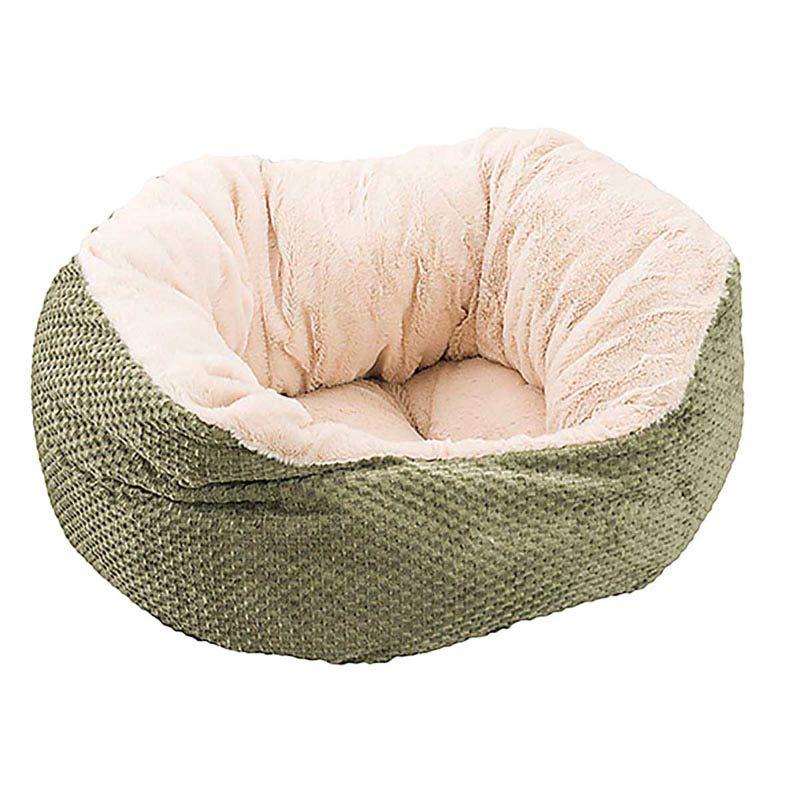18 inch Sleep Zone Napper Bed Checkerboard Weave - Green Sage