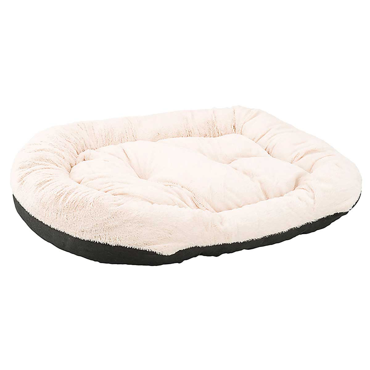 Sleep Zone Step-In Cuddlers Oval Bed Faux Suede Black 31 inch