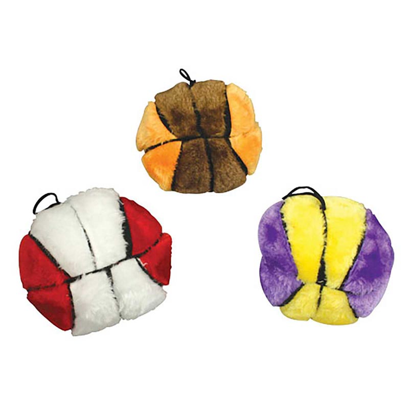 Plush Sport Balls Basketballs for Dogs - 4.5 inches, Various Colors
