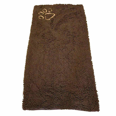 Clean Paws Brown Microfiber Runner with Paw Print - 60 inches by 30 inches