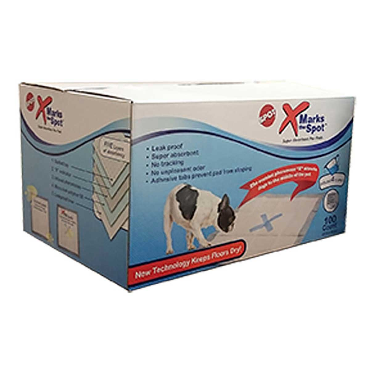 100 Count Box of X Marks The Spot Super Absorbent Pee Pads