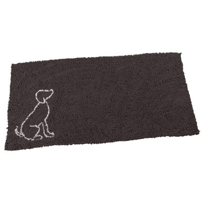 Ethical Pet Clean Paws Gray Microfiber Runner with Dog Silhouette - 60 inches by 30 inches