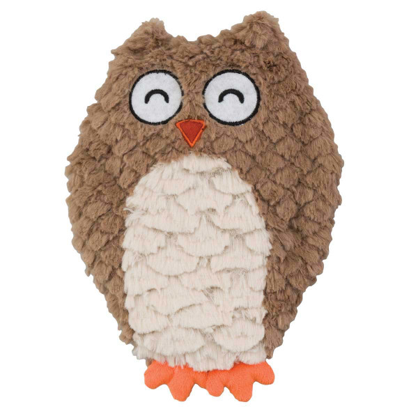 Ethical Pet Stuffed Soft Swirl Owl Dog Toy - 9.5 inches