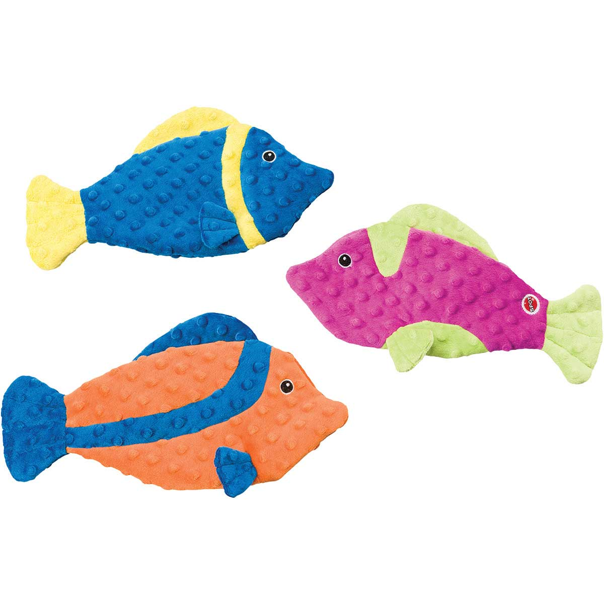 13 inch Skinneeez Extreme Fish Dog Toys - Assorted Colors