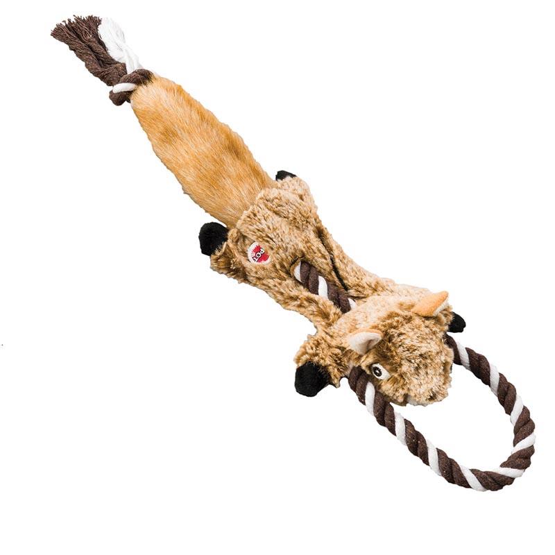 Stuffed Mini Skinneeez Tugs Chipmunk 14 inch Dog Toy