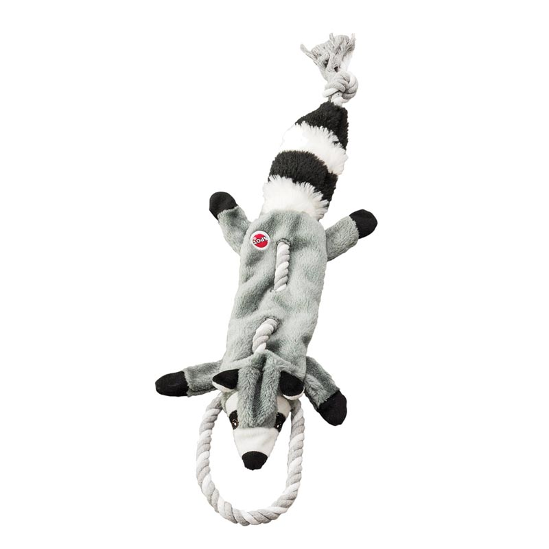 Skinneeez Tugs Forest Raccoon 23 inch Dog Toy