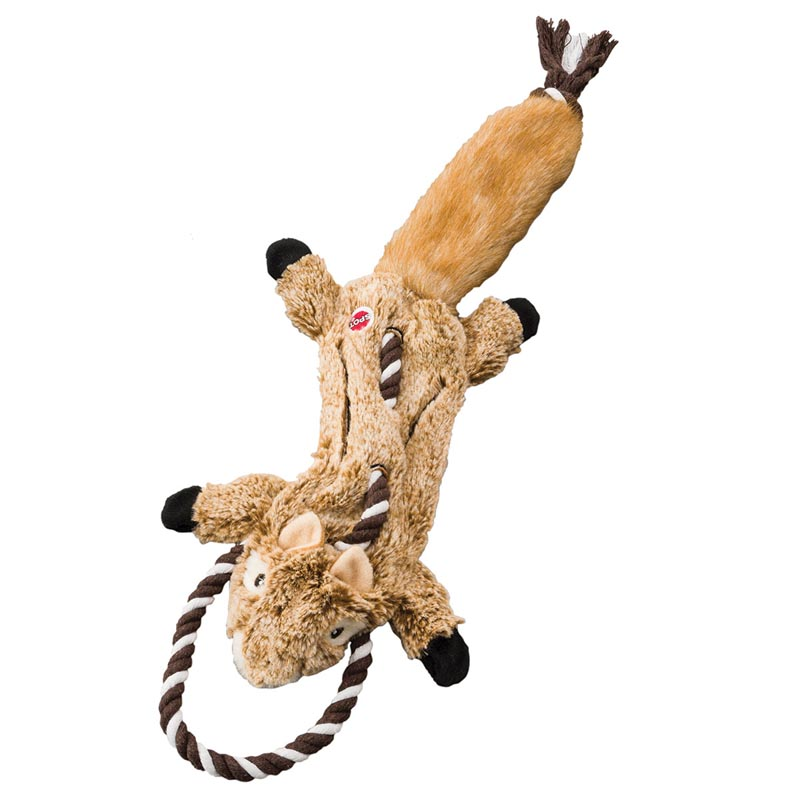 23 inch Skinneeez Tugs Forest Chipmunk Dog Toy