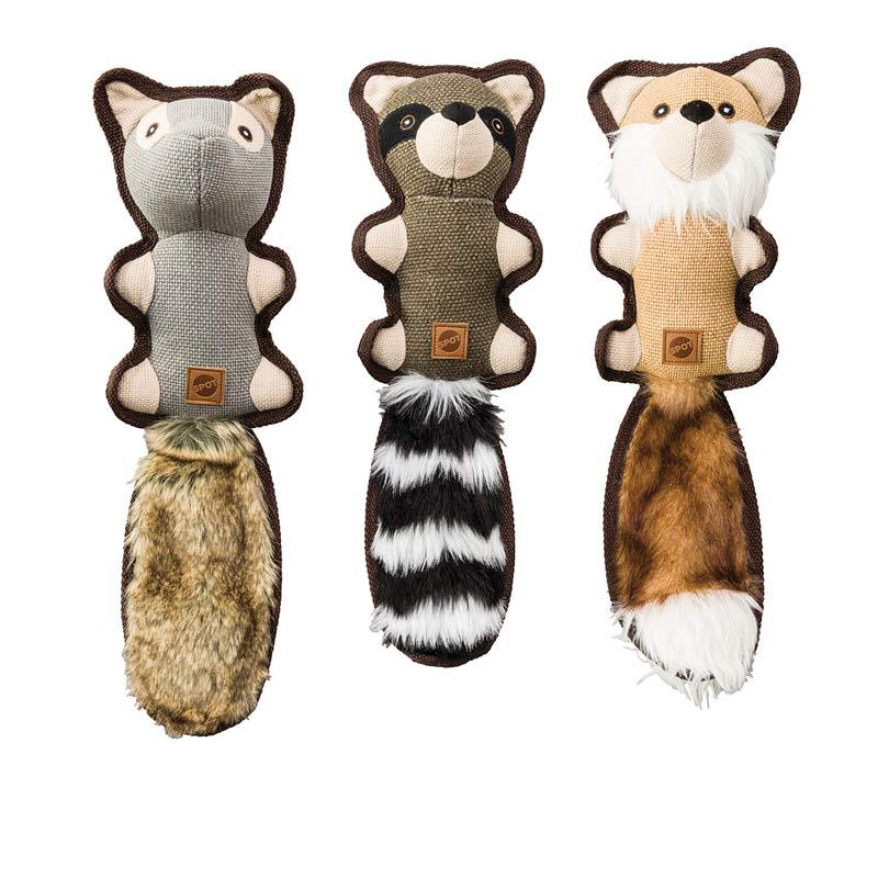 18 inch Dura Fused Hemp Friends Dog Toys - Assorted Designs