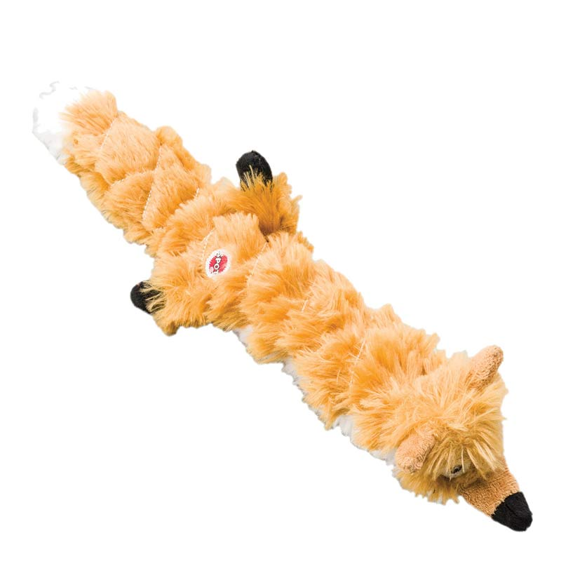 14 inch Mini Skinneeez Extreme Quilted Fox Toy for Dogs