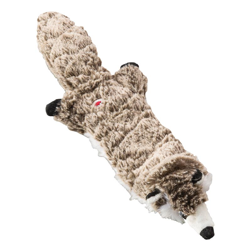 Mini Skinneeez Extreme Quilted Raccoon - Medium and Large Dog Toy
