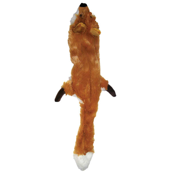 15 inch Skinneeez Fox with Light Stuffing Dog Toy