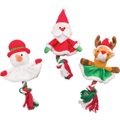 Holiday Tree Skirt Assorted Dog Toys at Ryan's Pet Supplies