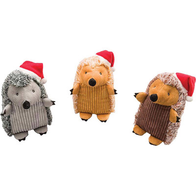 Holiday Hedgehogs Assorted Dog Toys at Ryan's Pet Supplies