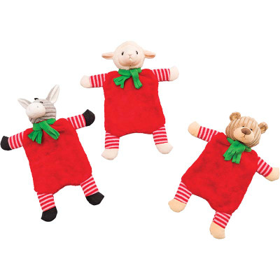 Holiday Crinkle Flats Dog Toys