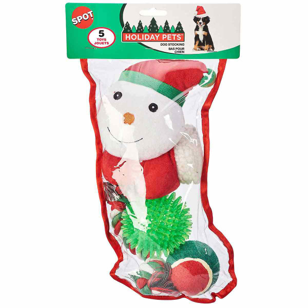 Large 5 piece Holiday Dog Stocking