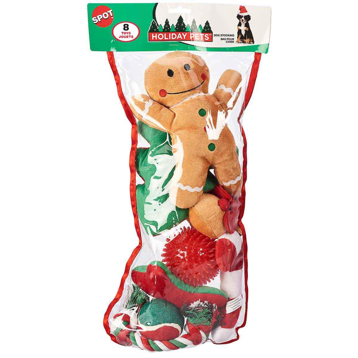 X Large 8 Piece Holiday Dog Stocking