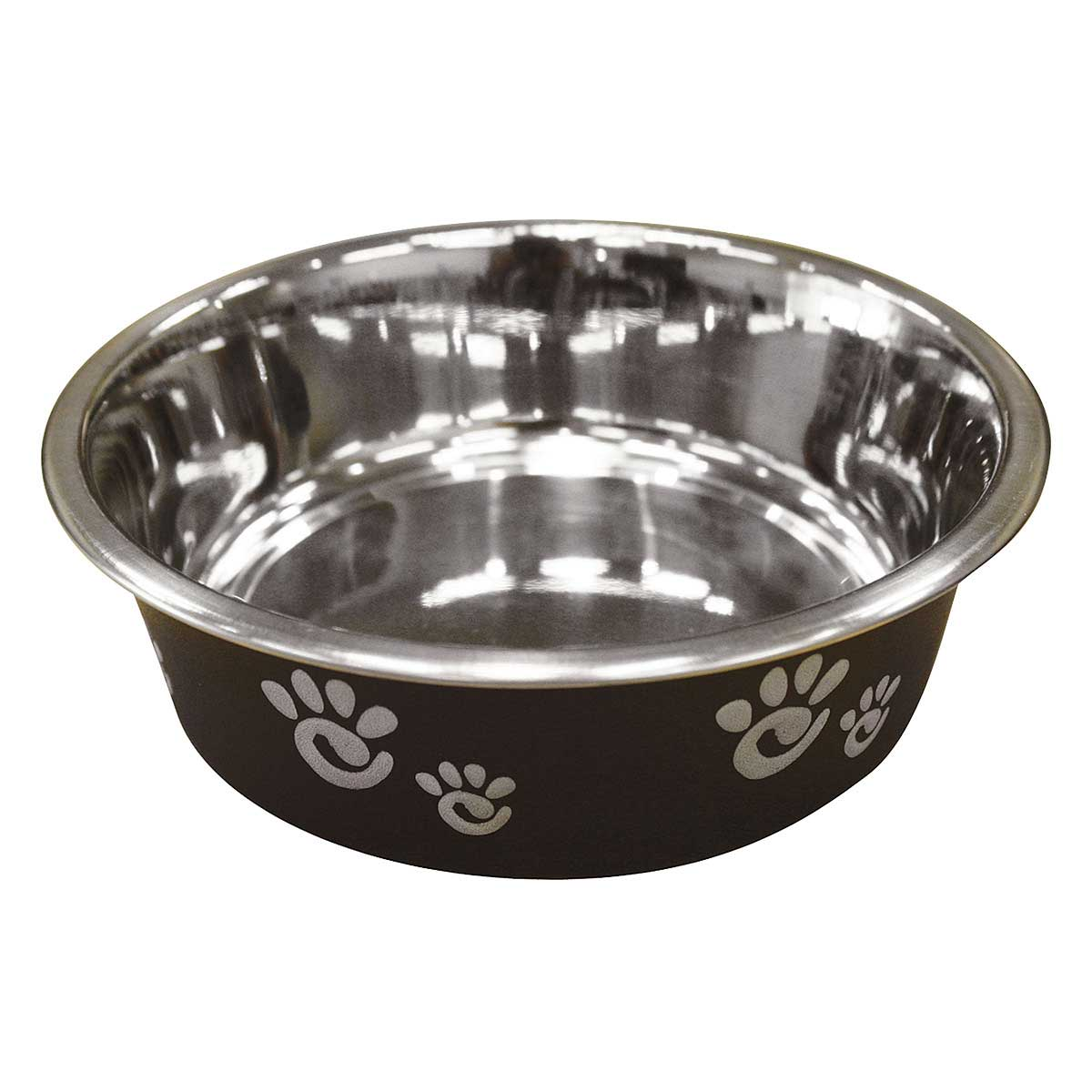 Barcelona Bowl for Dogs - Matte Black Licorice Holds 8 oz