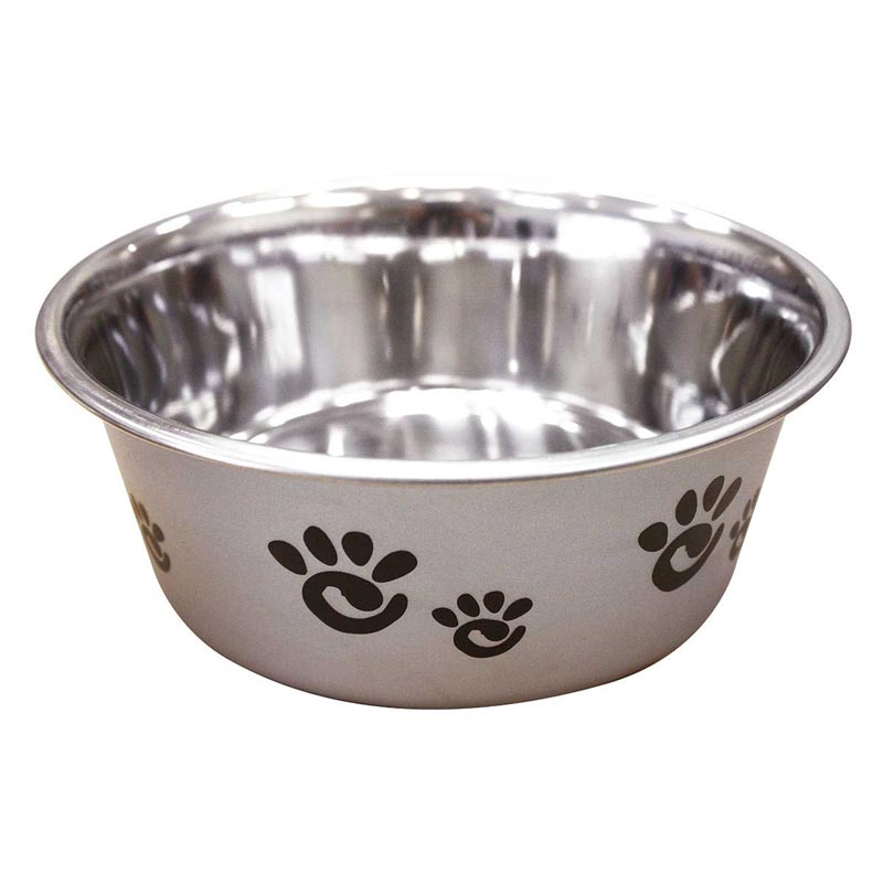 Barcelona Bowl for Dogs - Pearlized Silver 32 ounce