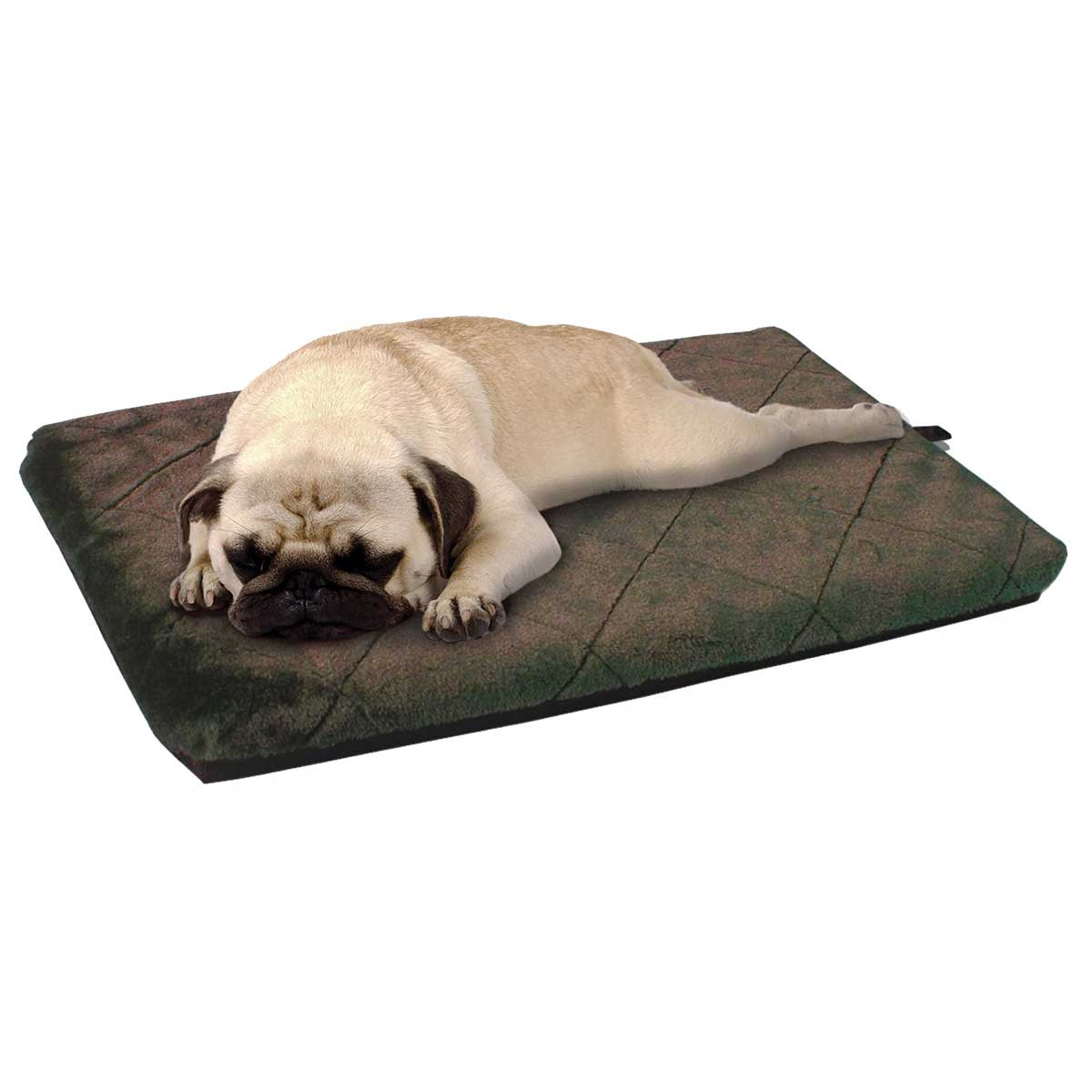 26 inches by 41 inches by 2 inches - Furhaven Nap Crate Orthopedic Mats in Brown Espresso