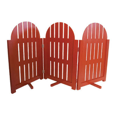 Furhaven Decor Gates Red Adirondack Fence