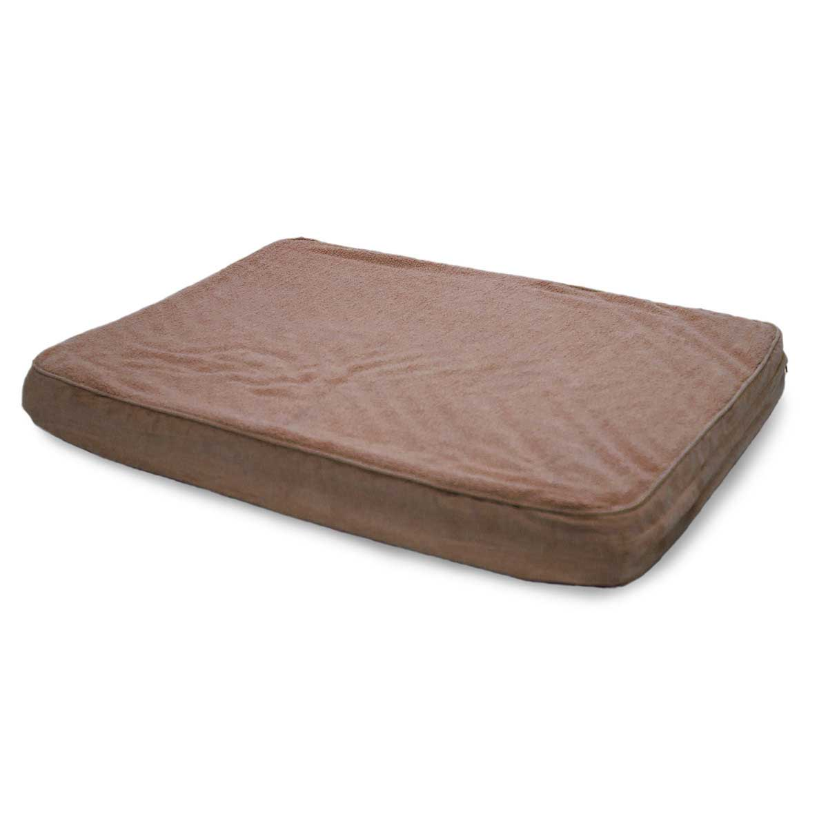Espresso Brown Furhaven Pet Nap Snuggle Terry & Suede Orthopedic Mats for Dogs - 35 inches by 44 inches