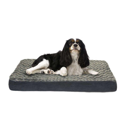 Furhaven Nap Ultra Plush Deluxe With Memory Foam Orthopedic Dog Mats - Gray 20 inches by 30 inches by 2 inches