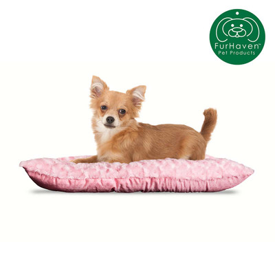 Small Pink FurHaven Ultra Plush Tufted Pillow Dog Bed
