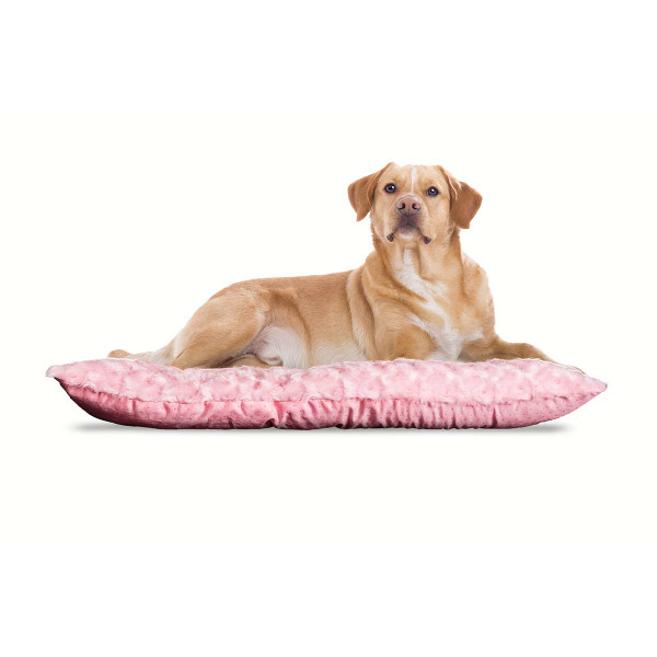 Large Pink Ultra Plush Tufted Pillow Bed for Dogs