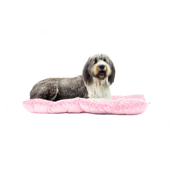 Pink XXL FurHaven Ultra Plush Tufted Pillow Dog Bed