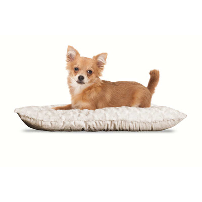 Small Latte FurHaven Ultra Plush Tufted Pillow Dog Bed