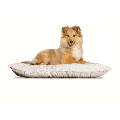 Latte Medium FurHaven Ultra Plush Tufted Pillow Dog Bed