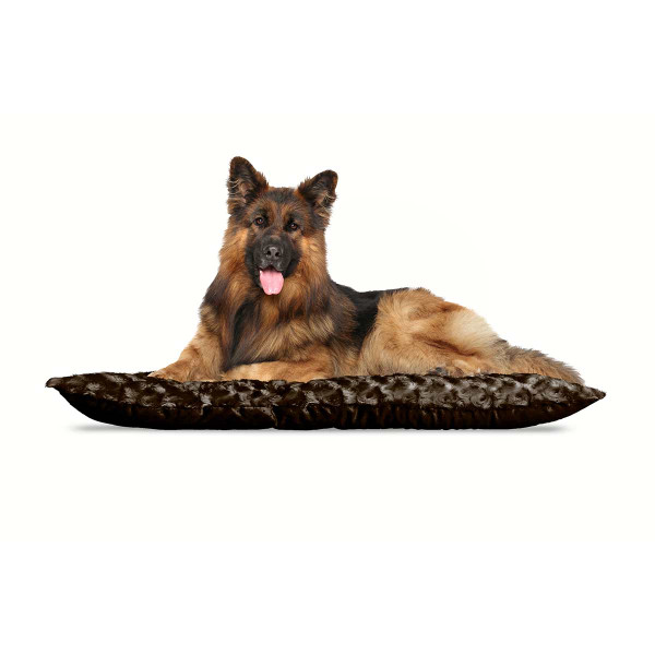 XL Brown FurHaven Ultra Plush Tufted Pillow Dog Bed