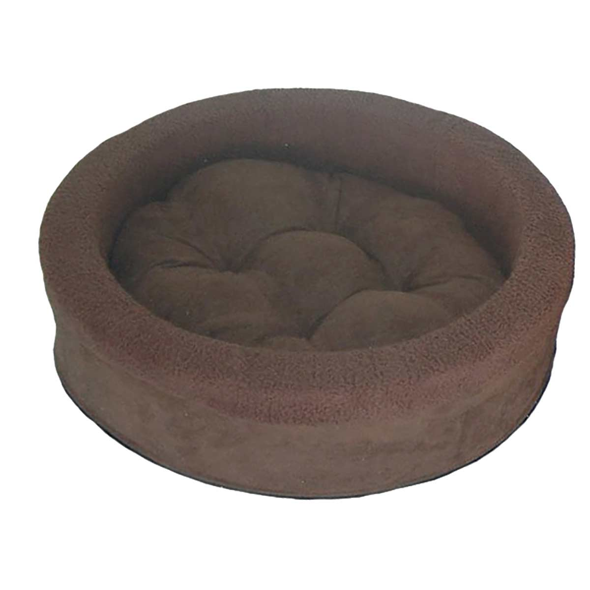 Furhaven Espresso Snuggle Terry Cup Pet Bed at Ryan's Pet Supplies