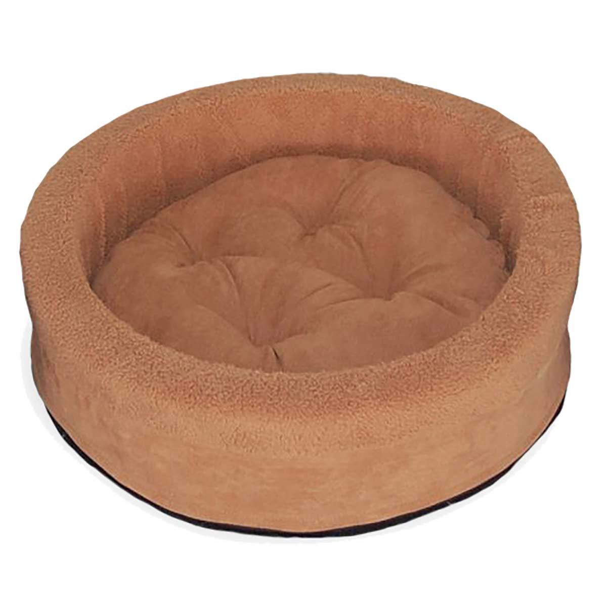 Furhaven Camel Snuggle Terry Cup Pet Bed at Ryan's Pet Supplies