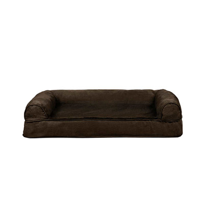 Medium Brown FurHaven Orthopedic Sofa Dog Bed