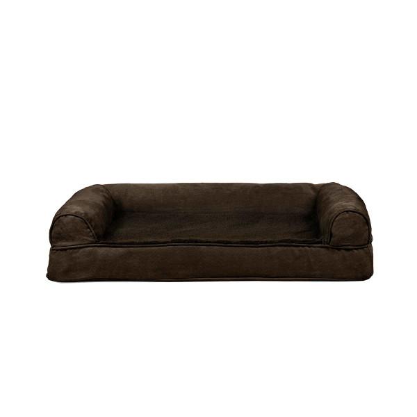Medium Brown FurHaven Orthopedic Sofa Dog Bed